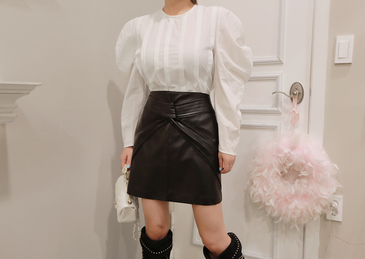marant leather skirt