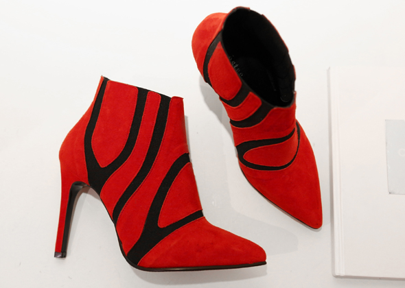 red ankle heel