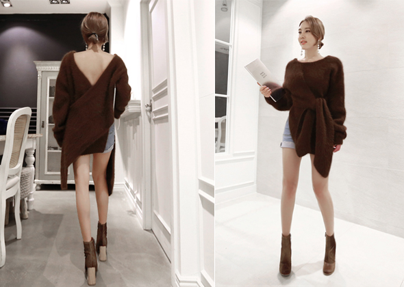 lovely angora knit (brown)