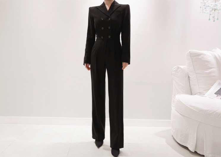 happiness jump-suit (black)