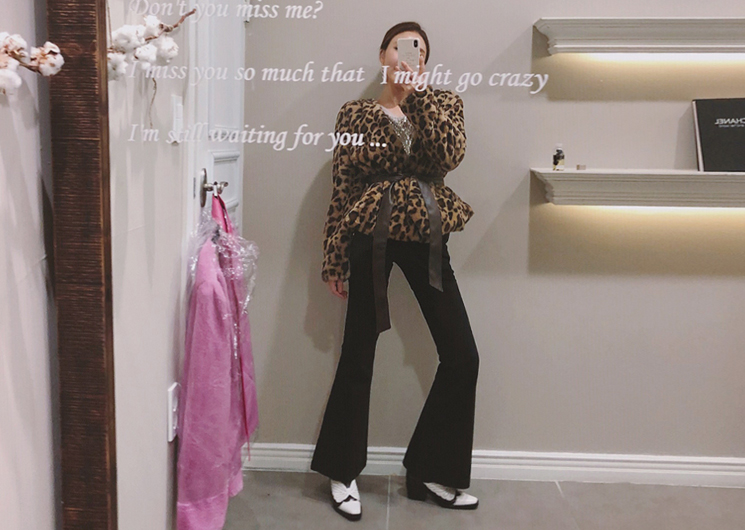 joy fur jacket (leopard)