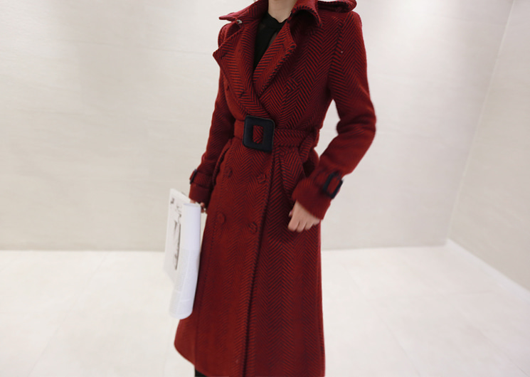 hepburn long coat