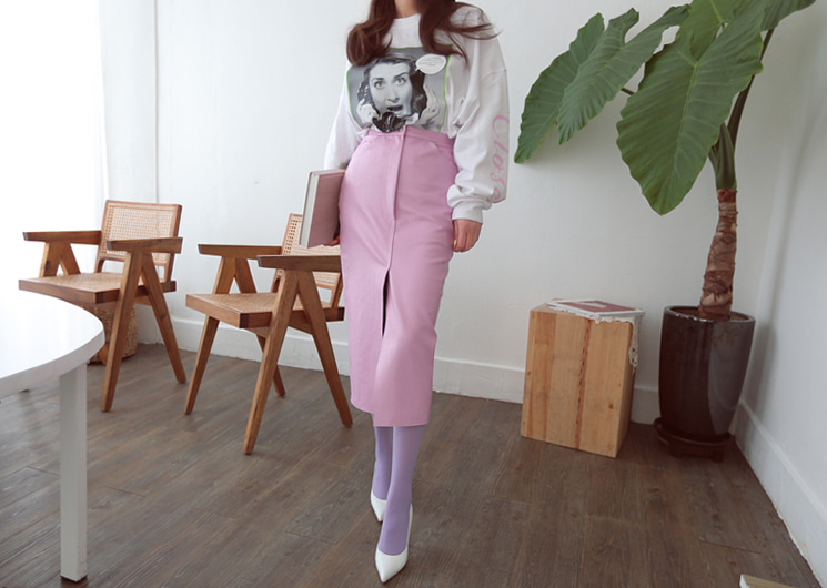 chic hard skirt (pink)