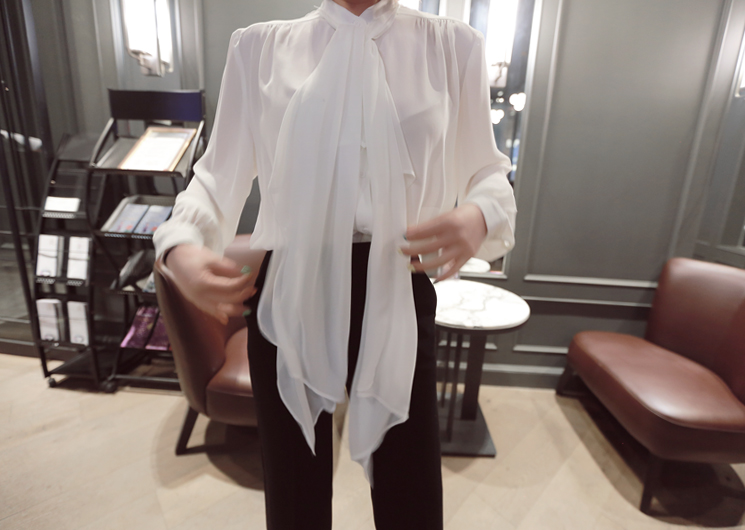 big scarf blouse