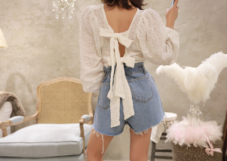 ribbon lace blouse