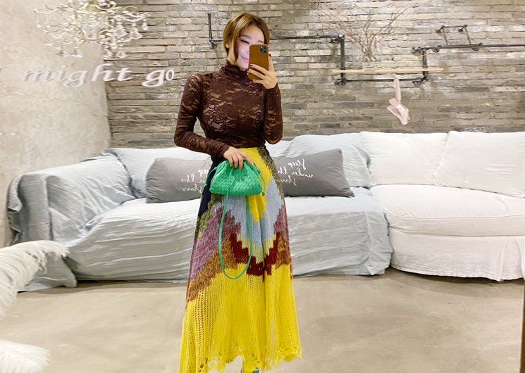 dear knit skirt (yellow)