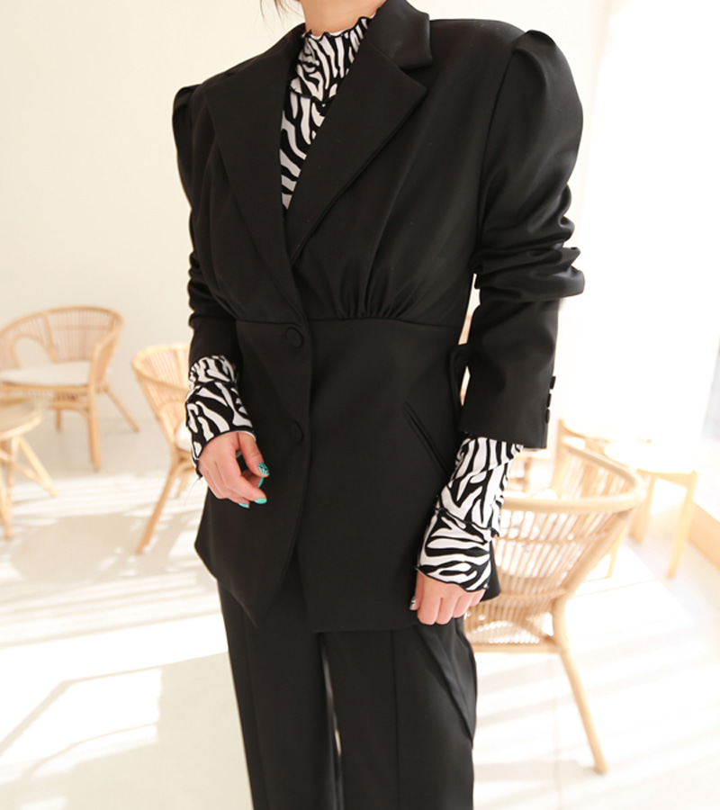 tulip jacket (black)