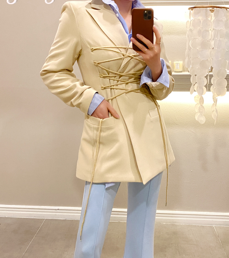 rope jacket (beige)