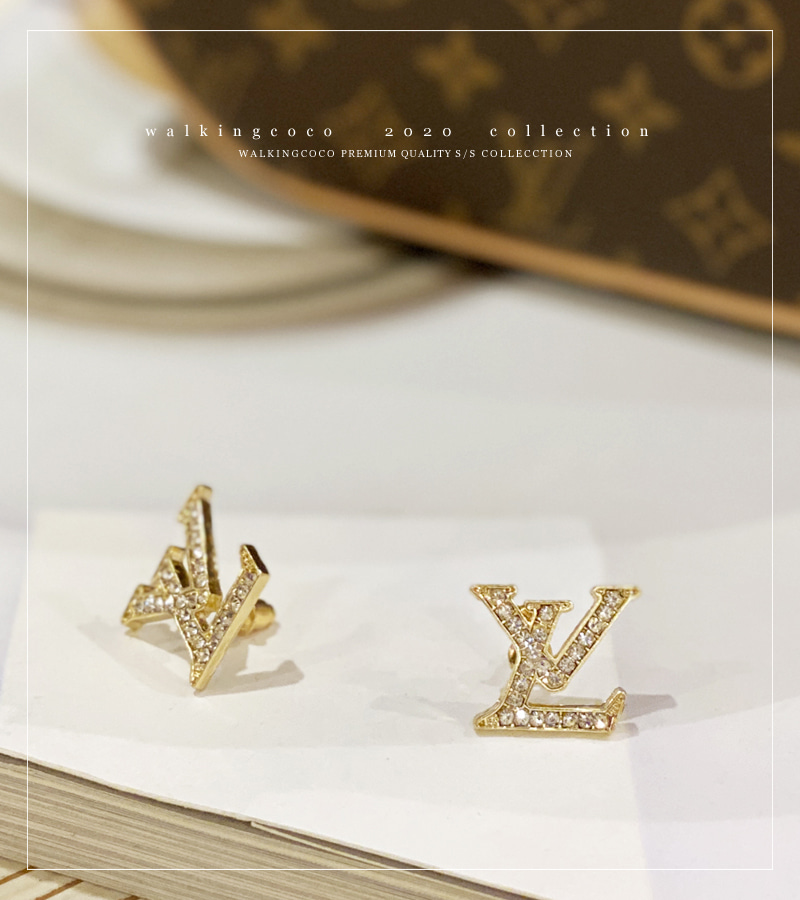 L.V earrings