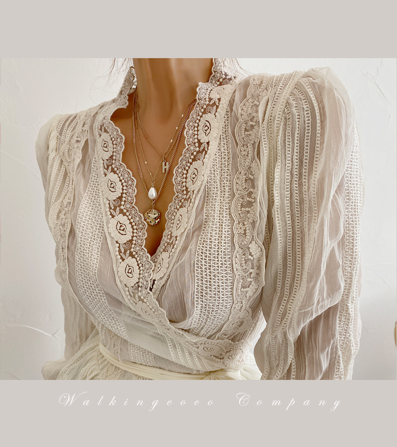 rose wrap blouse