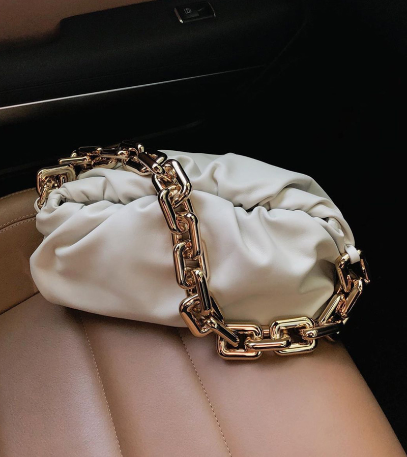 bottega chain bag (cream)