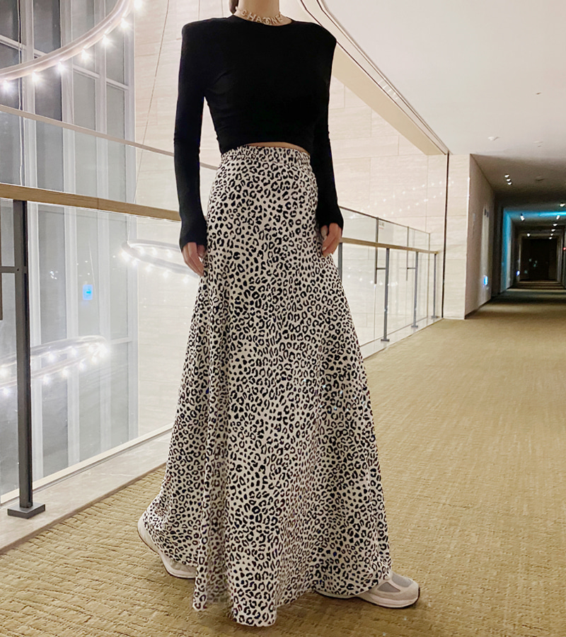 color leopard skirt