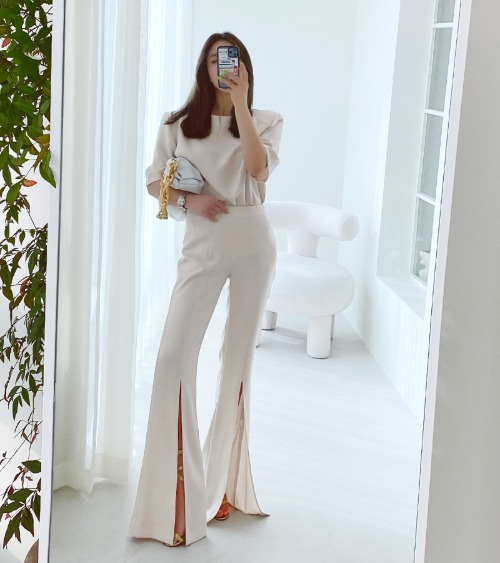 Silky Flared Pants